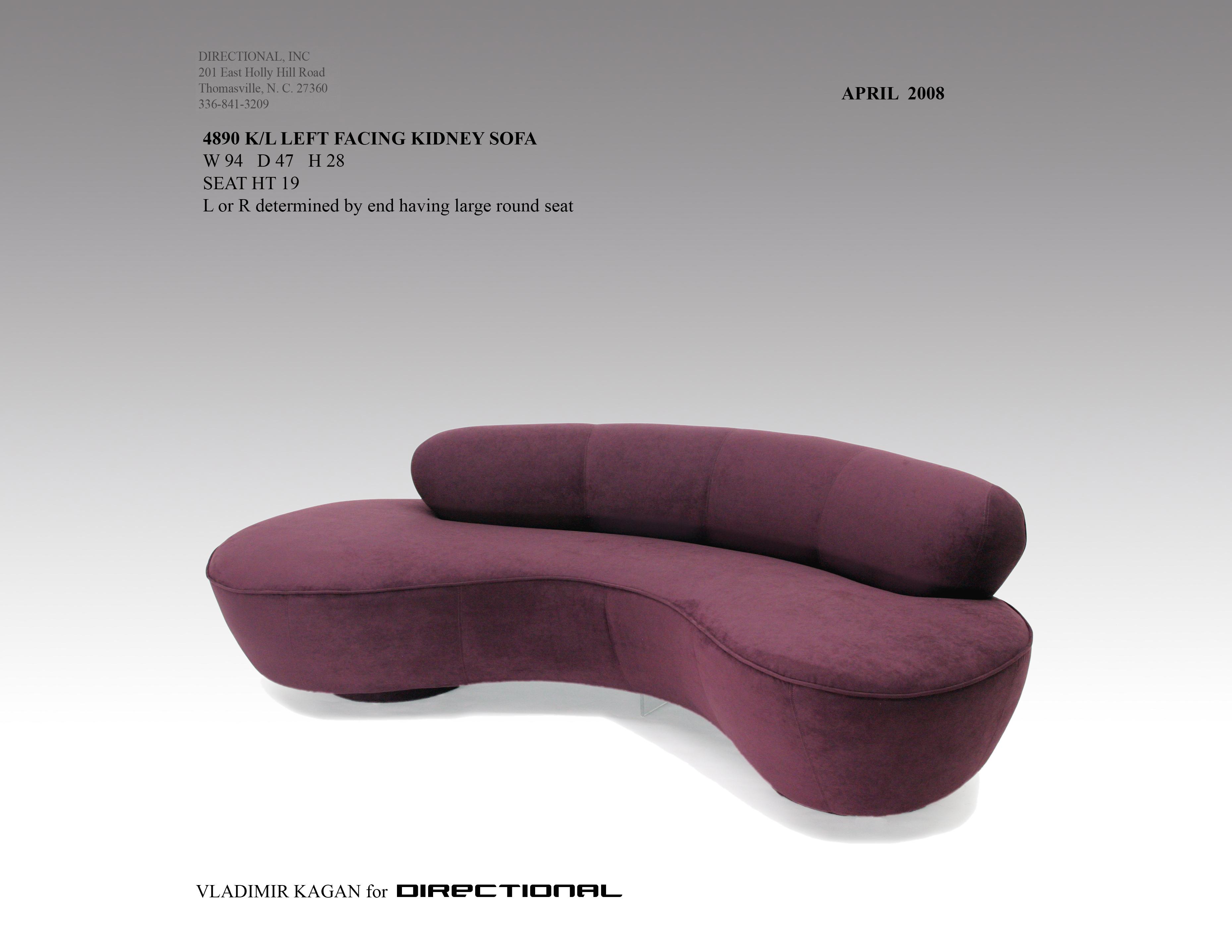 4890k L Kidney Sofa