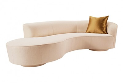Luxury Modern Sofa Curved base Custom Finish