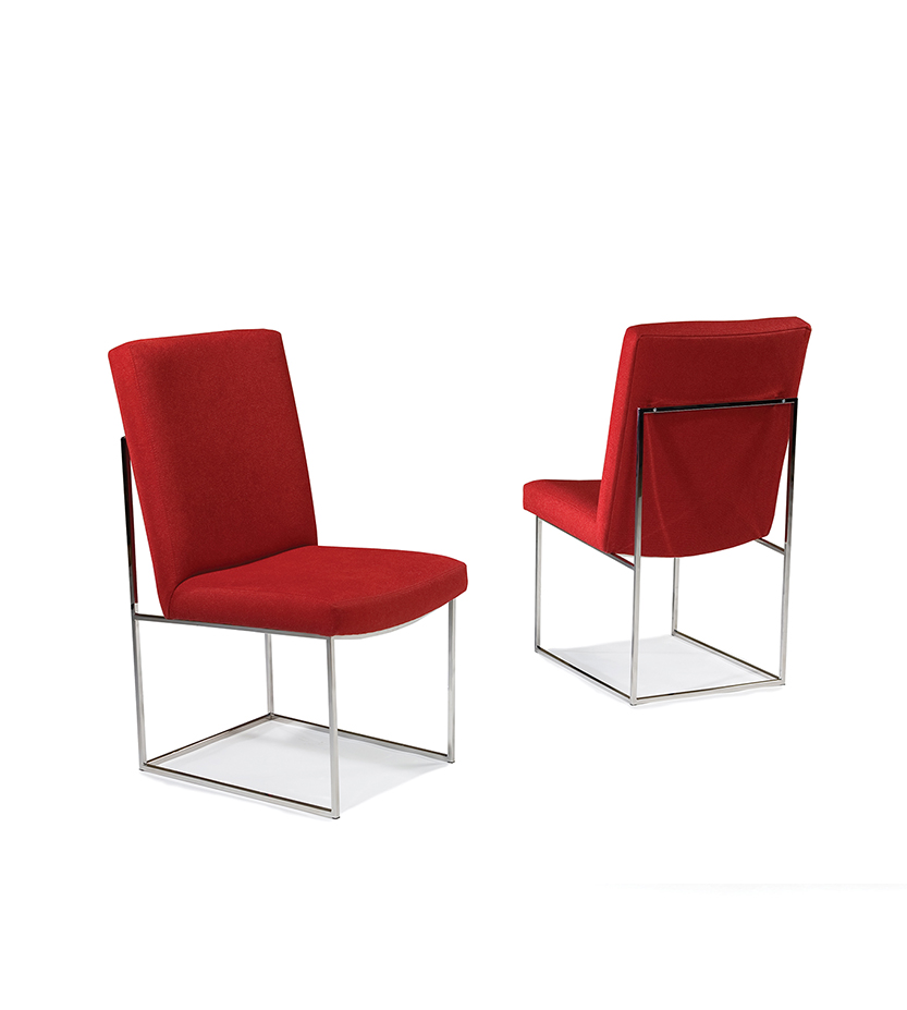 Design Classic Armless Chair By Milo Baughman Cliffyoung