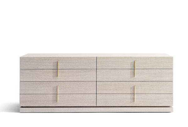 Luxury Modern Dresser Design Nita Dresser Simple Sophisticated Face with Striking Symmetrical Drawers Broken by Vertically Situated Handles in a Variety of Finishes