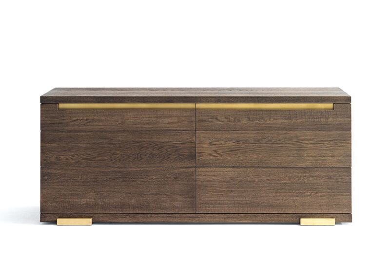 Classic Modern Dresser Design Sloan Dresser with Custom Wood Finish and Metal Detailing