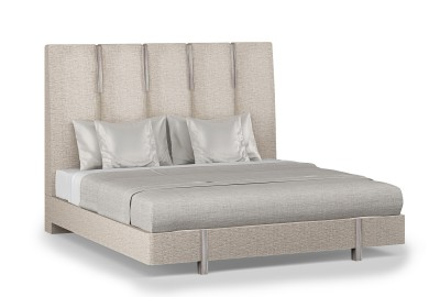 Zarra Modern NYC Bed with High Headboard and Floating Base