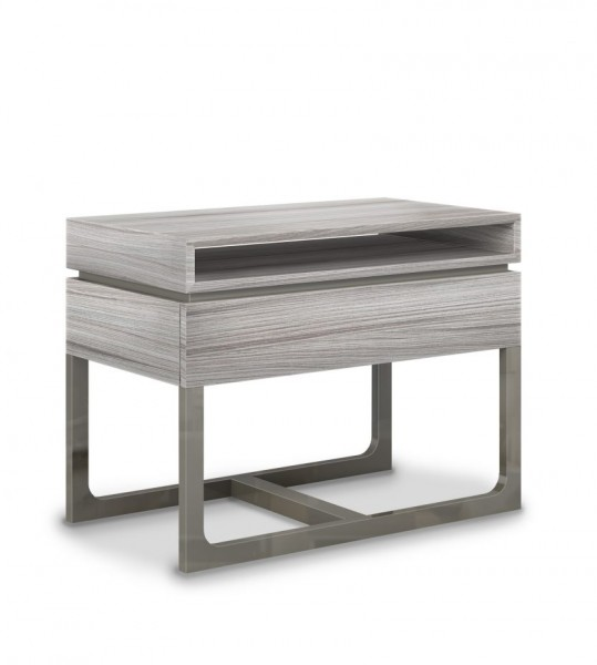 Luxury Design Nightstand Zarra Thick Legs that Curve to meet at Base