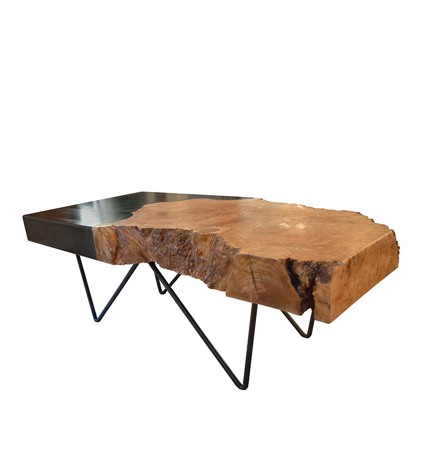 Live Edge Burl Cocktail Table Cliffyoung