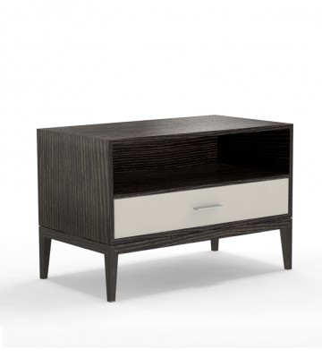 Contemporary Bedroom Design Nightstand Cassidy One Drawer with Space Above and Raised from Floor