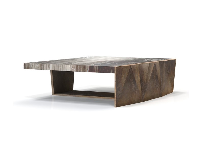 cy faceted cocktail table