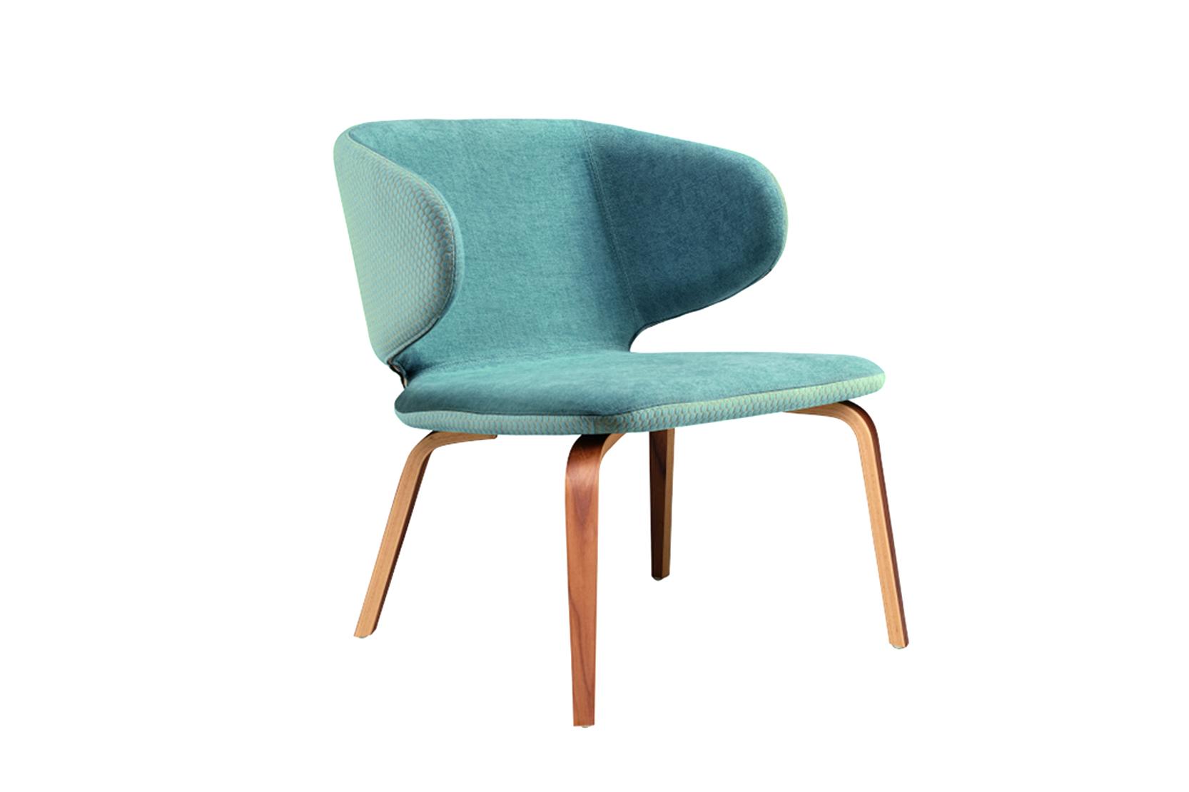 warp wood armchair