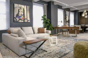 NYC Loft living room