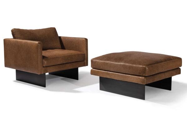 blade lounge chair and ottoman