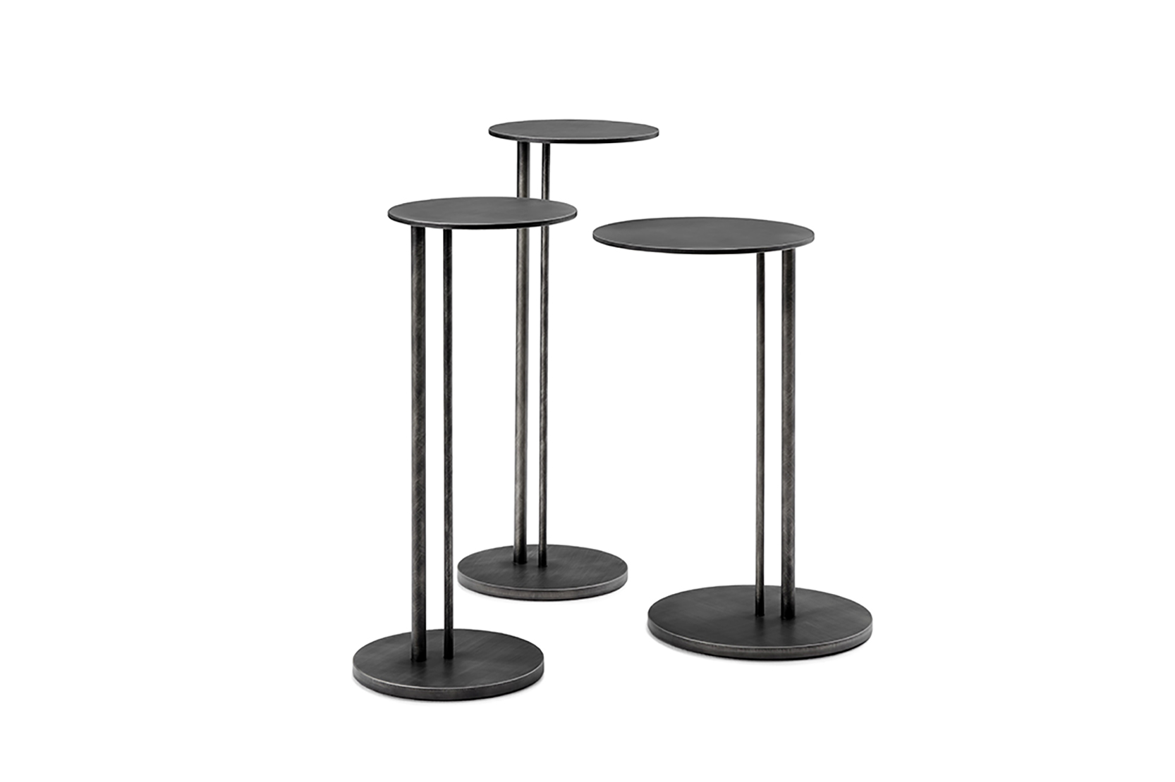 sting brushed end table